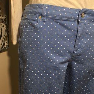 Talbots Cropped Polka Dot Jeans